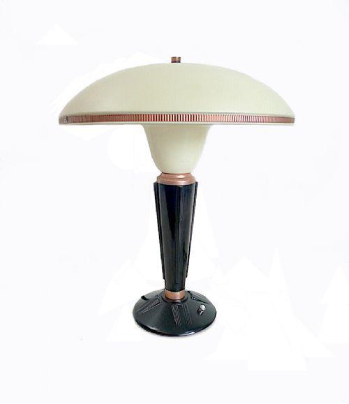 large art deco bakelite table lamp by eileen gray for jumo france