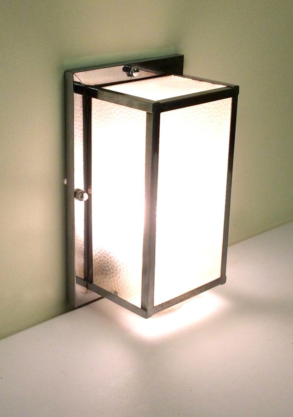 large art deco box wall light