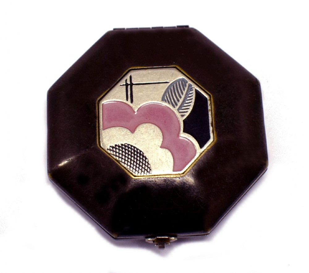 art deco ladies powder compact c1935
