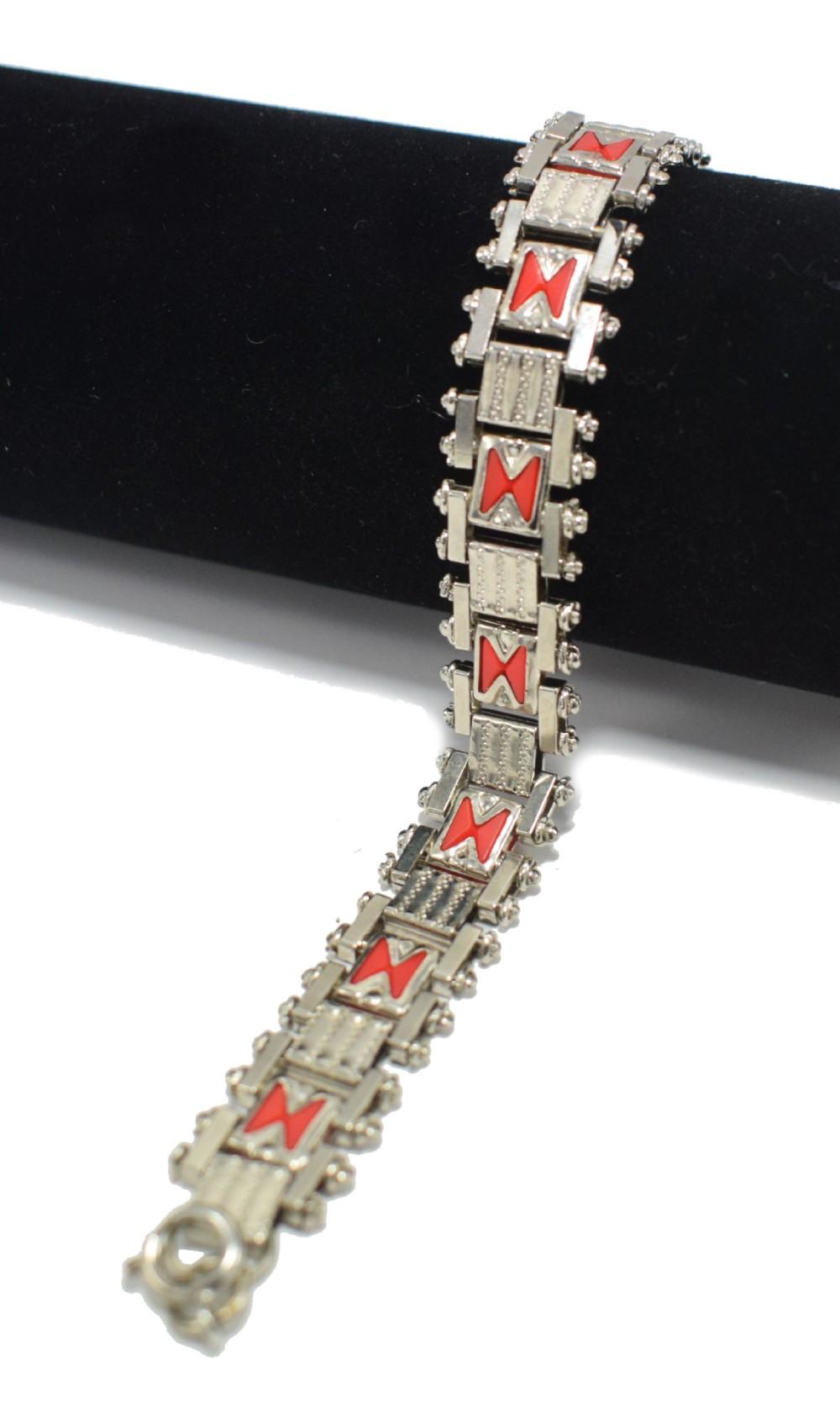 art deco 1930's bracelet by jakob bengel germany