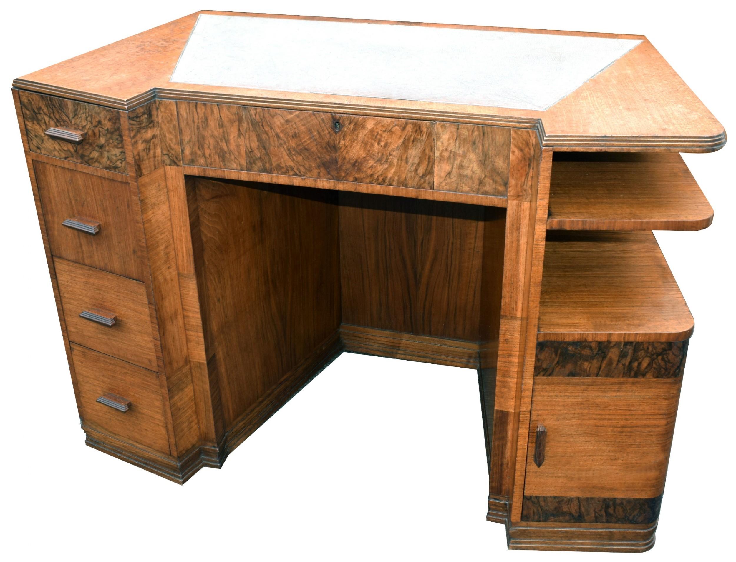 art deco walnut desk circa 1936