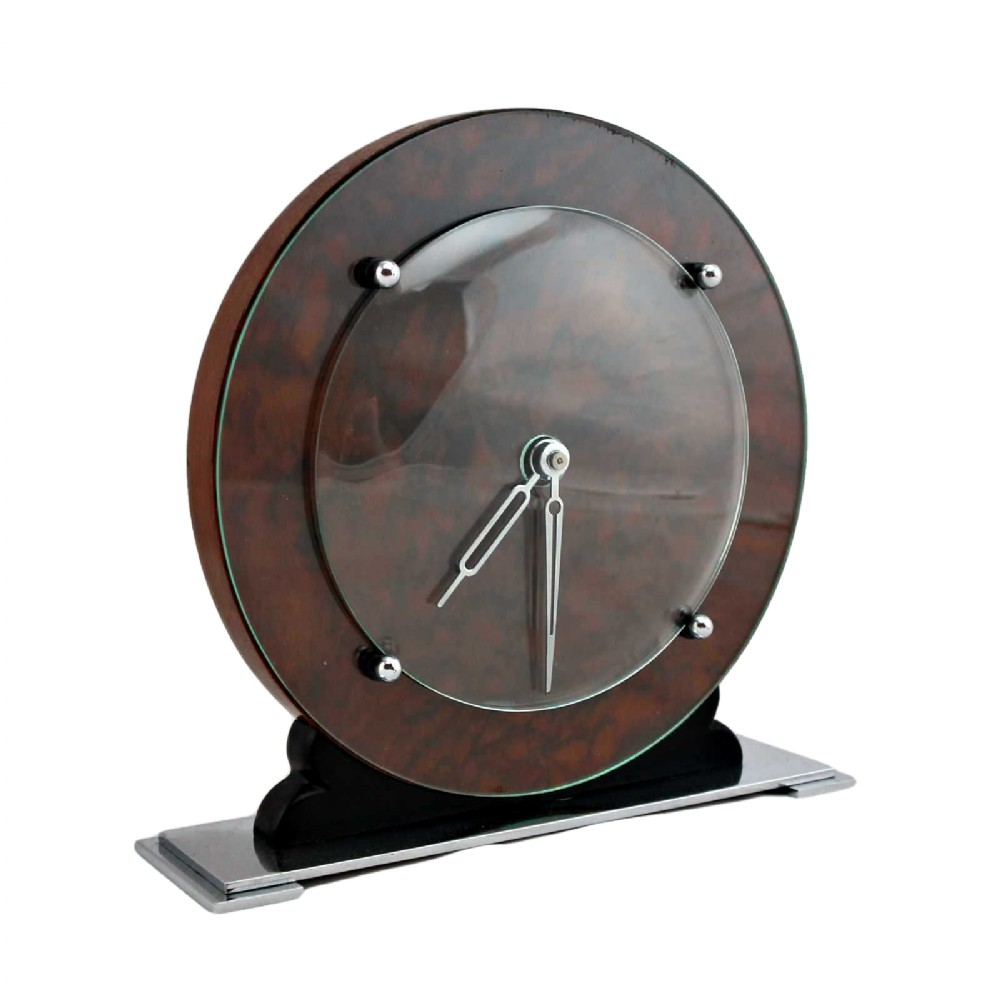 stylish art deco 8 day mantle clock