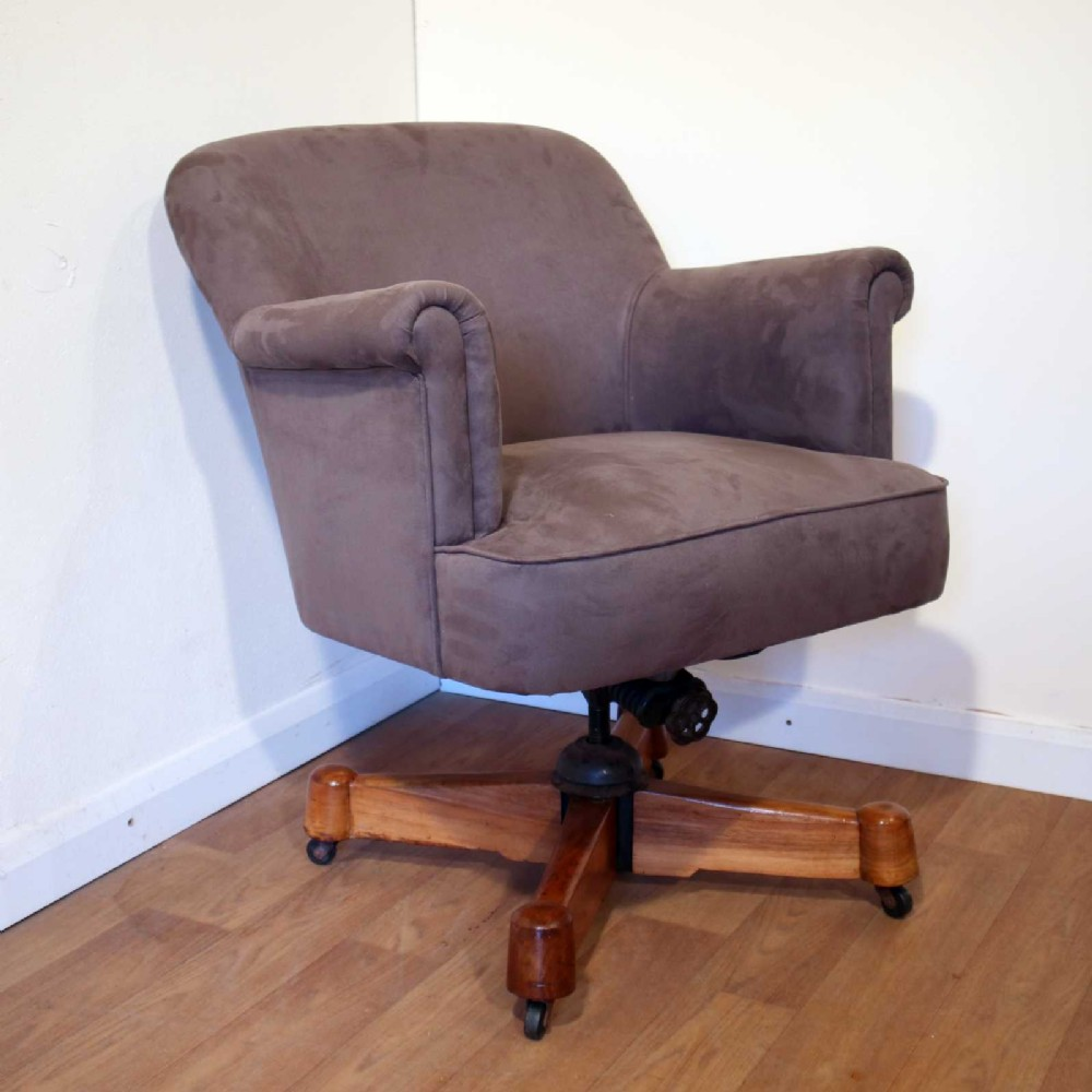 art deco adjustable swivel chair by maple co