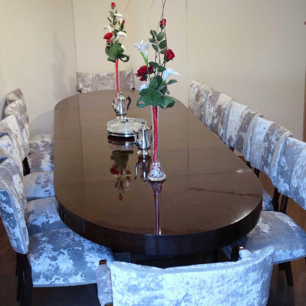 stunning art deco burr walnut 12 seater dining suite