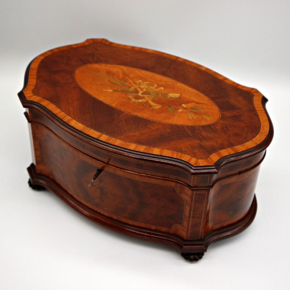 fine late victorian inlaid mahogany jewellery box