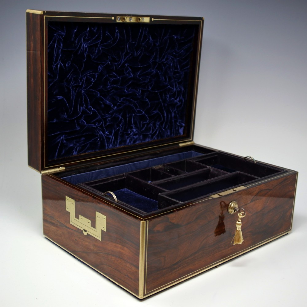 antique rosewood jewellery box by edwards