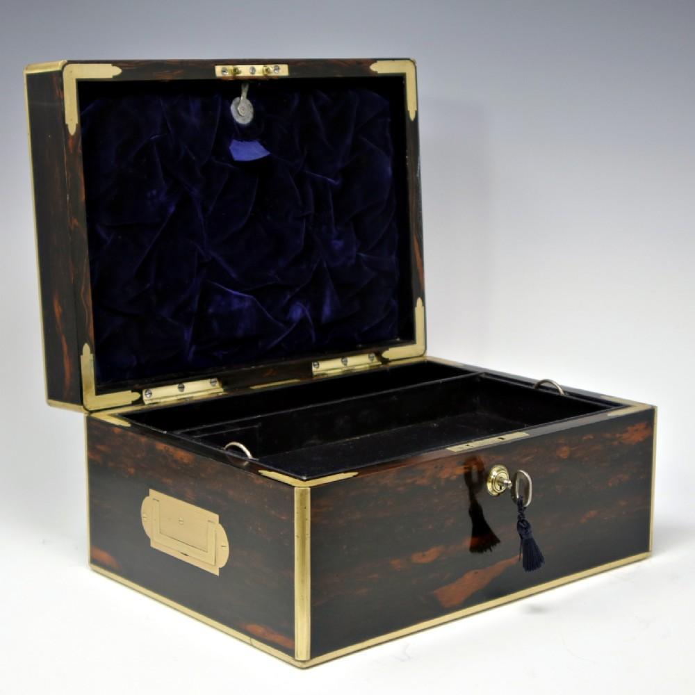 antique coromandel jewellery box by leuchars