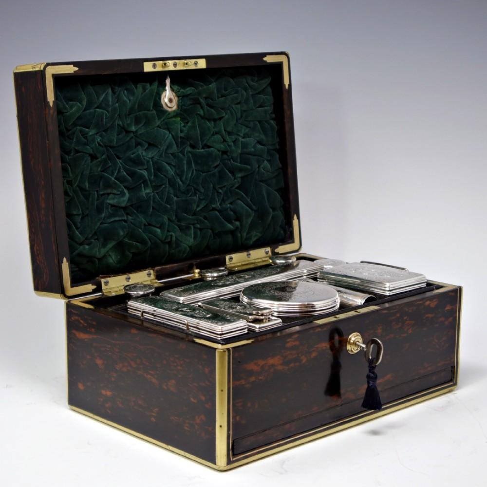 antique coromandel dressing box