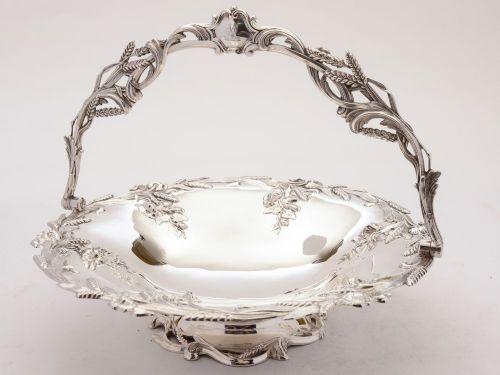 fabulous victorian silver plated bread basket circa 1880