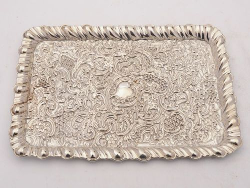 victorian silver dressing table tray birmingham 1895