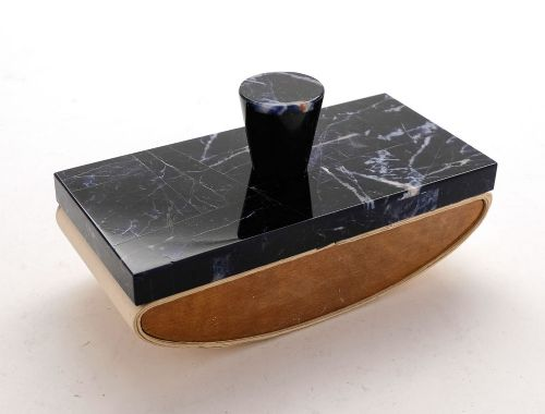 nice french art deco marble rocker blotter circa 1930