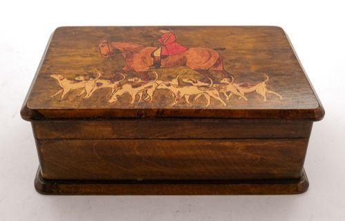 lovely pine painted table box circa 1930