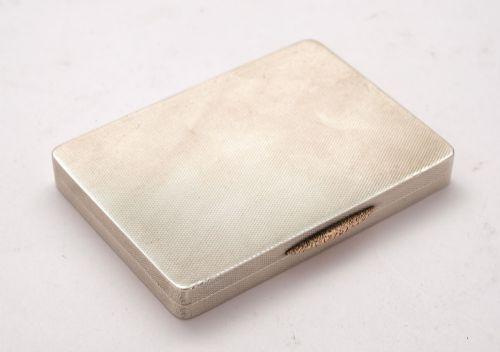 nice silver art deco card box london 1934