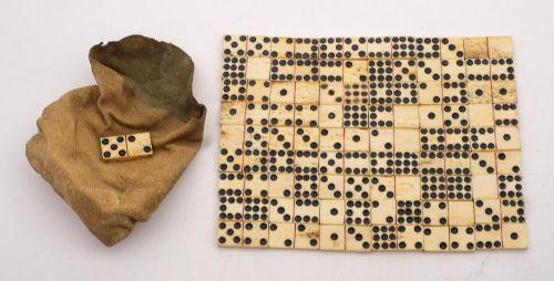 nice set of napoleonic pow animal bone dominoes circa 1815