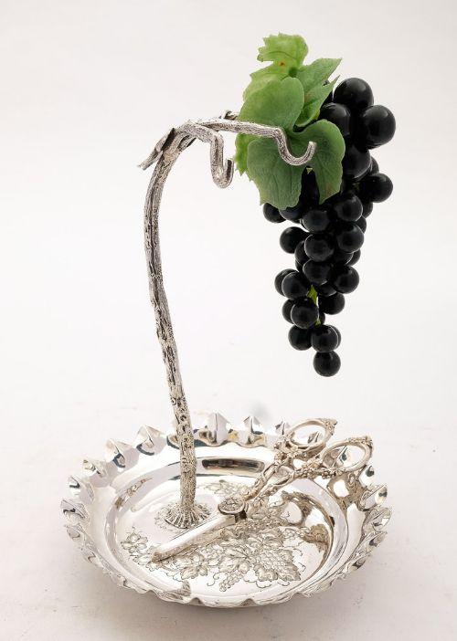 stunning victorian silver plated grape dish circa 1890
