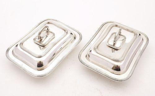 good pair edwardian asprey silver plated entree dishes circa 1905