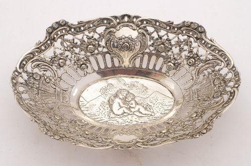 lovely 800 silver german basket circa 1900