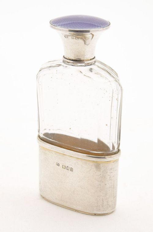 lovely george v silver hip flask london 1917