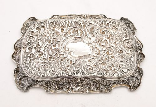 gorgeous edwardian silver tray birmingham 1907