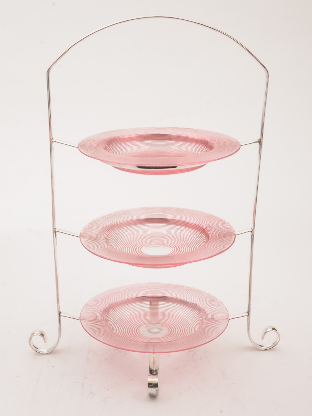 silver plated 3 tier cake stand circa 1910
