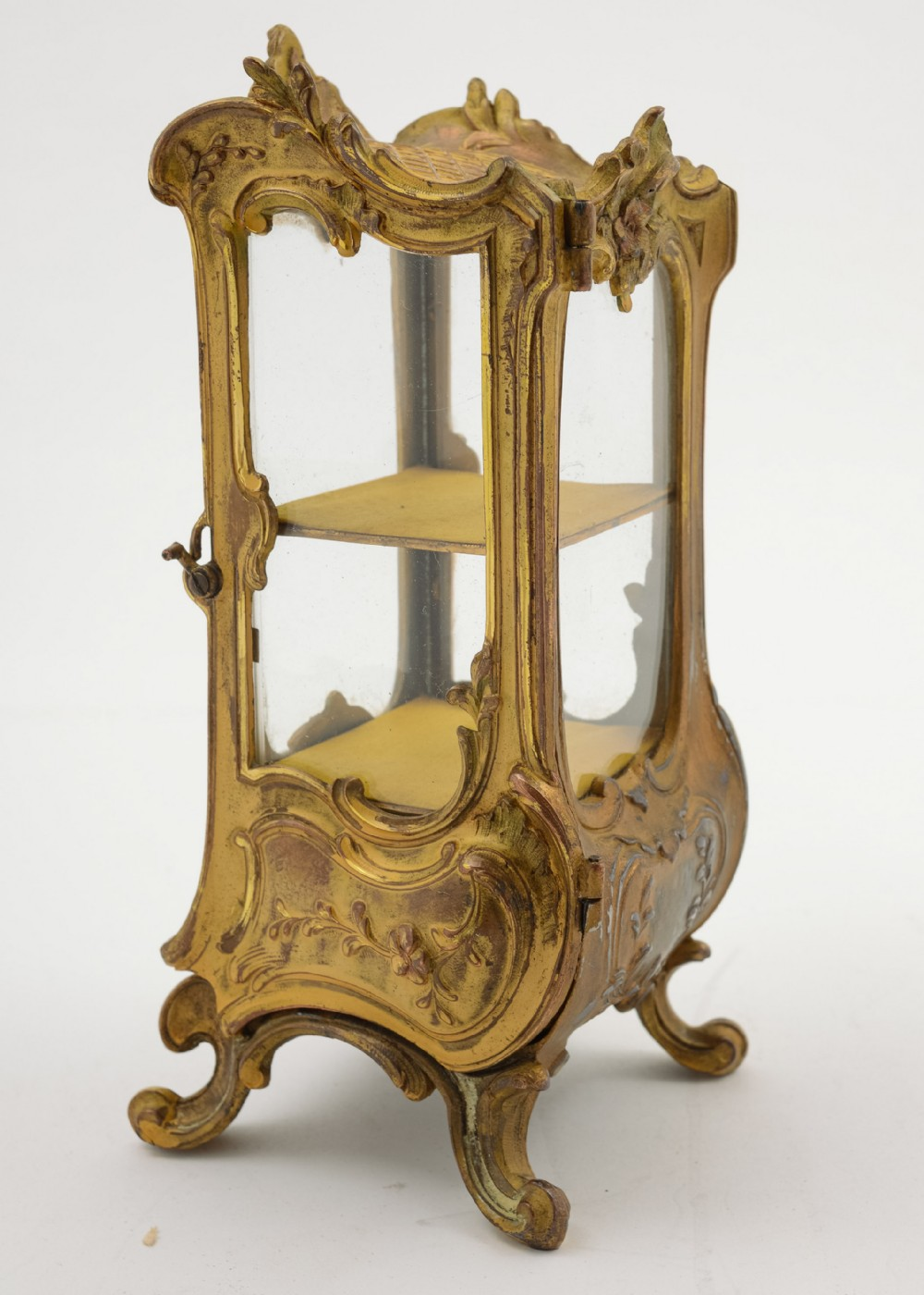 gorgeous french gilded pewter ring cabinet circa 1900