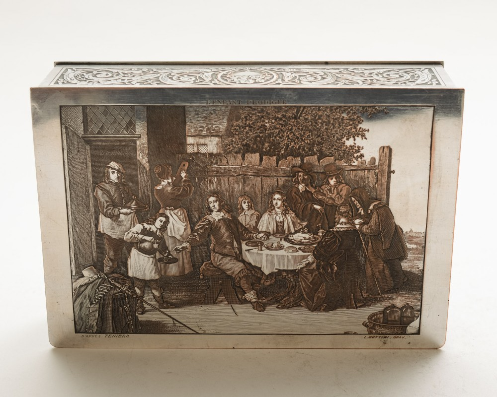 lovely french silver on copper plated box circa 1920