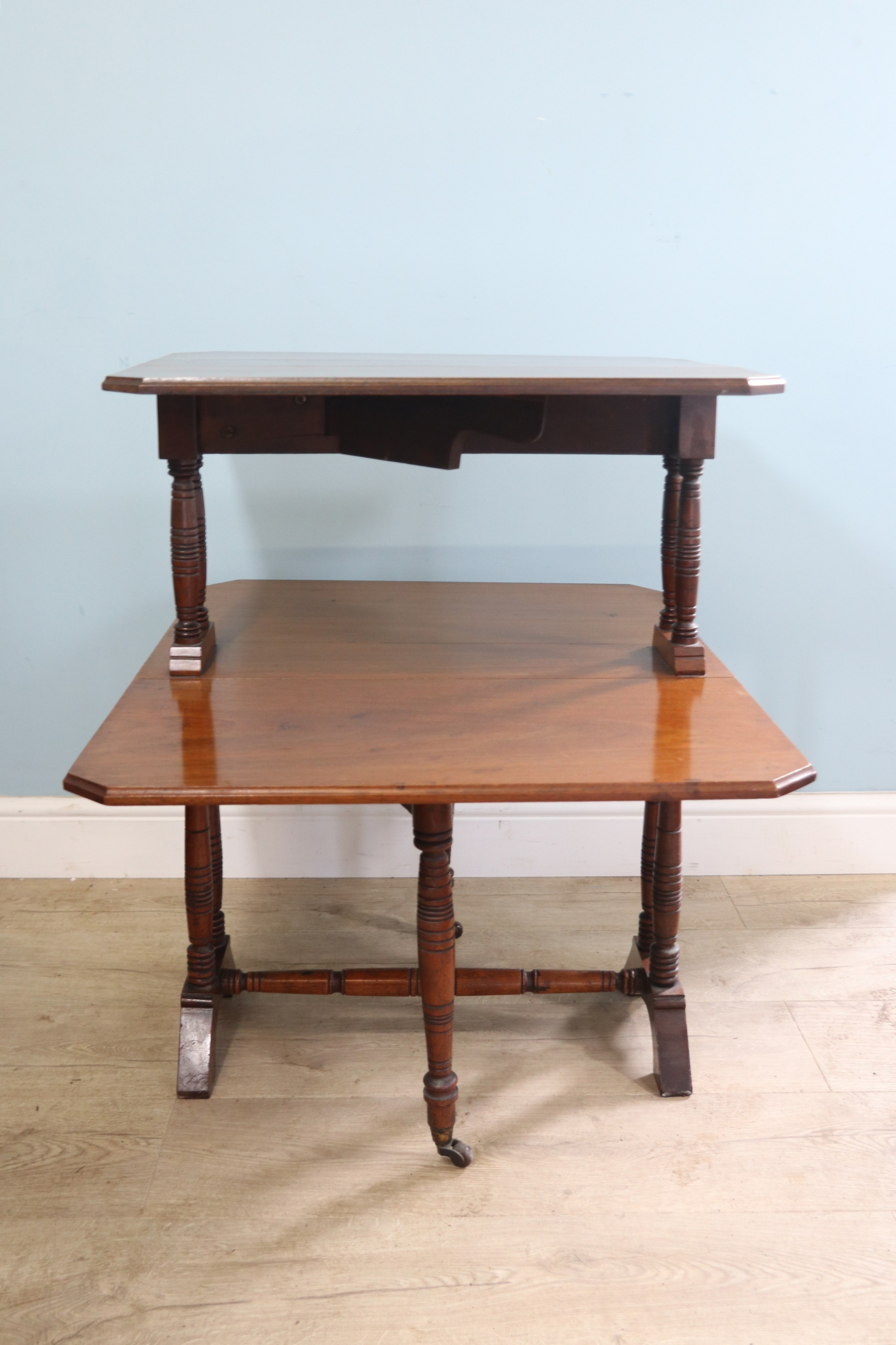 a classic antique an excellent late victorian unusual two tier mahogany sutherland table