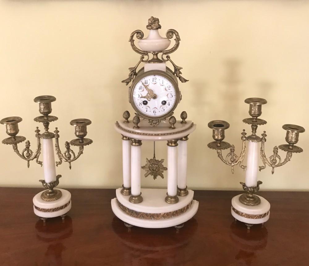 a 19th century french mantel clock