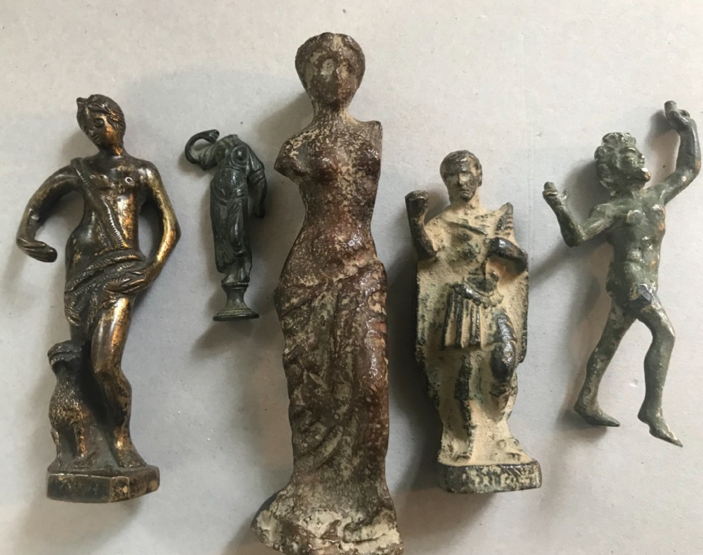 cast bronze and brass statuettes