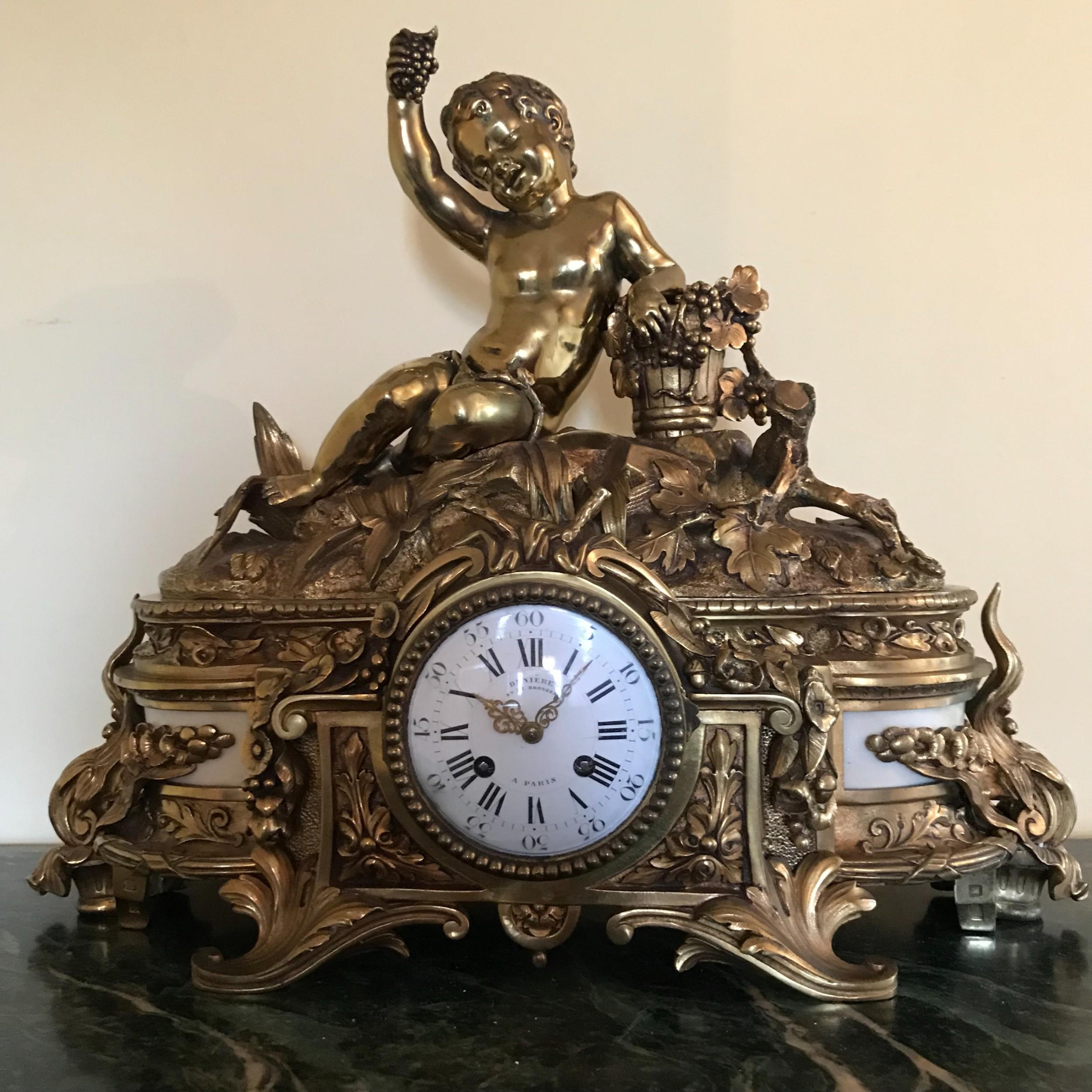a mantel clock by denire paris