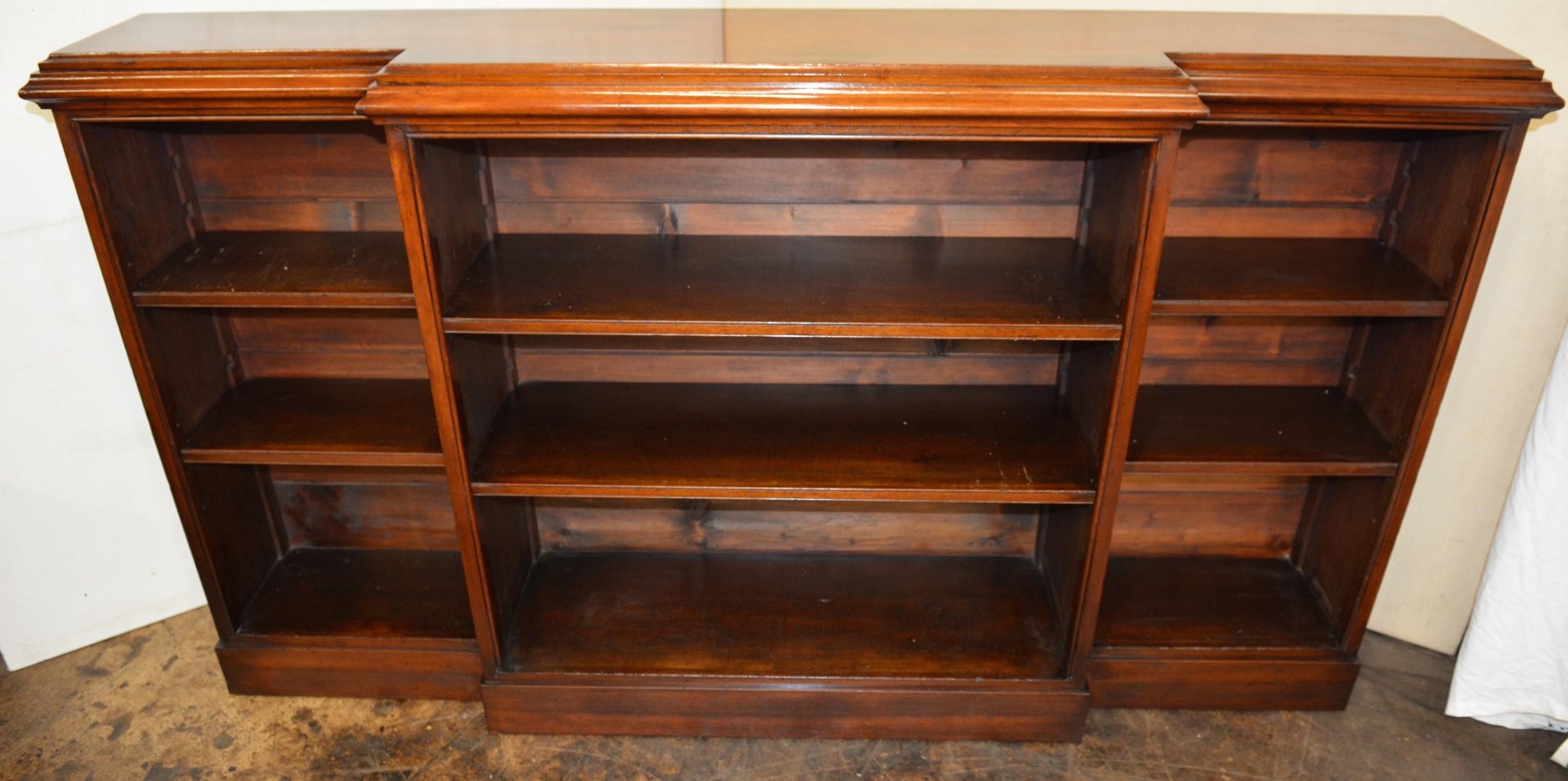 walnut book shelves