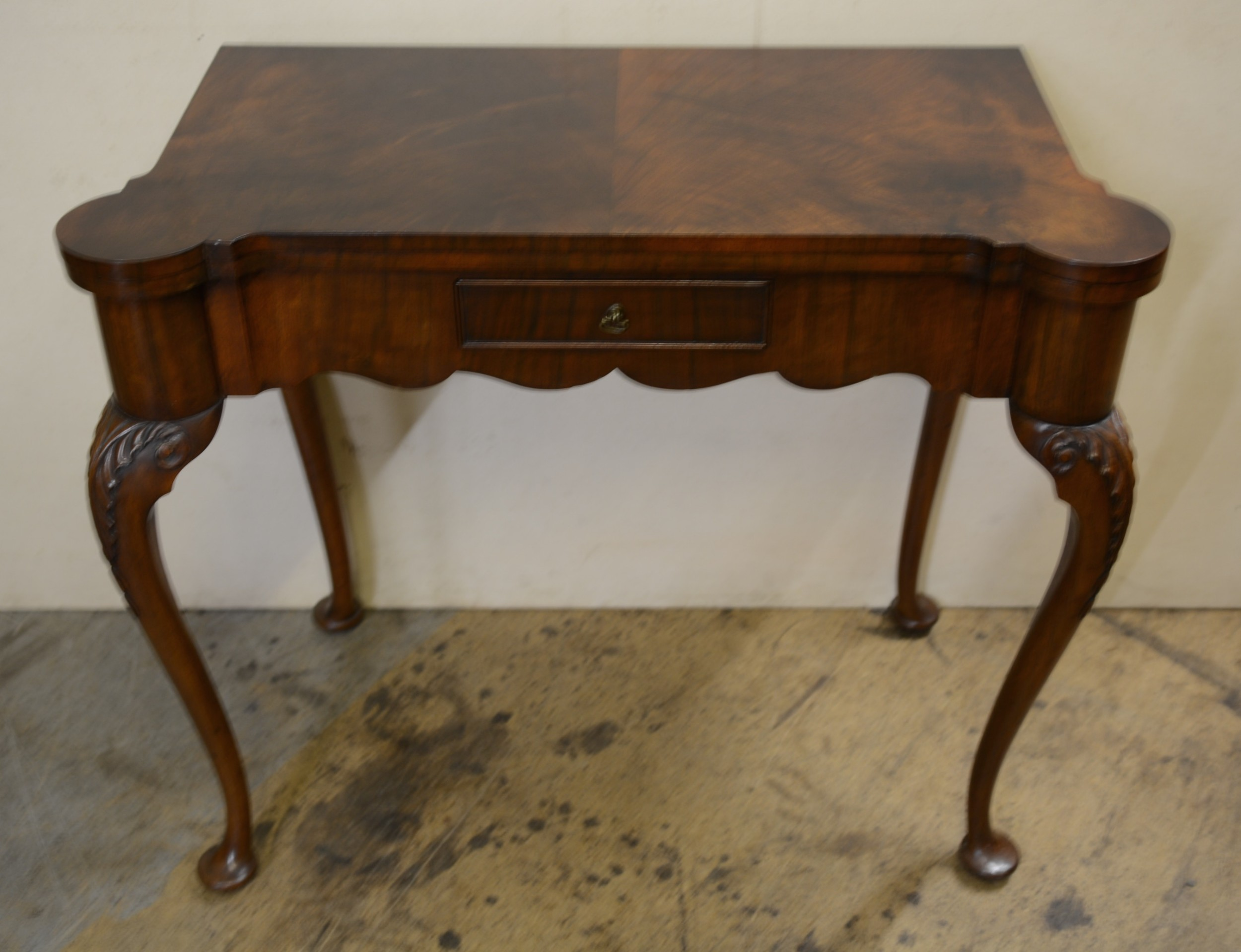 walnut bridge table