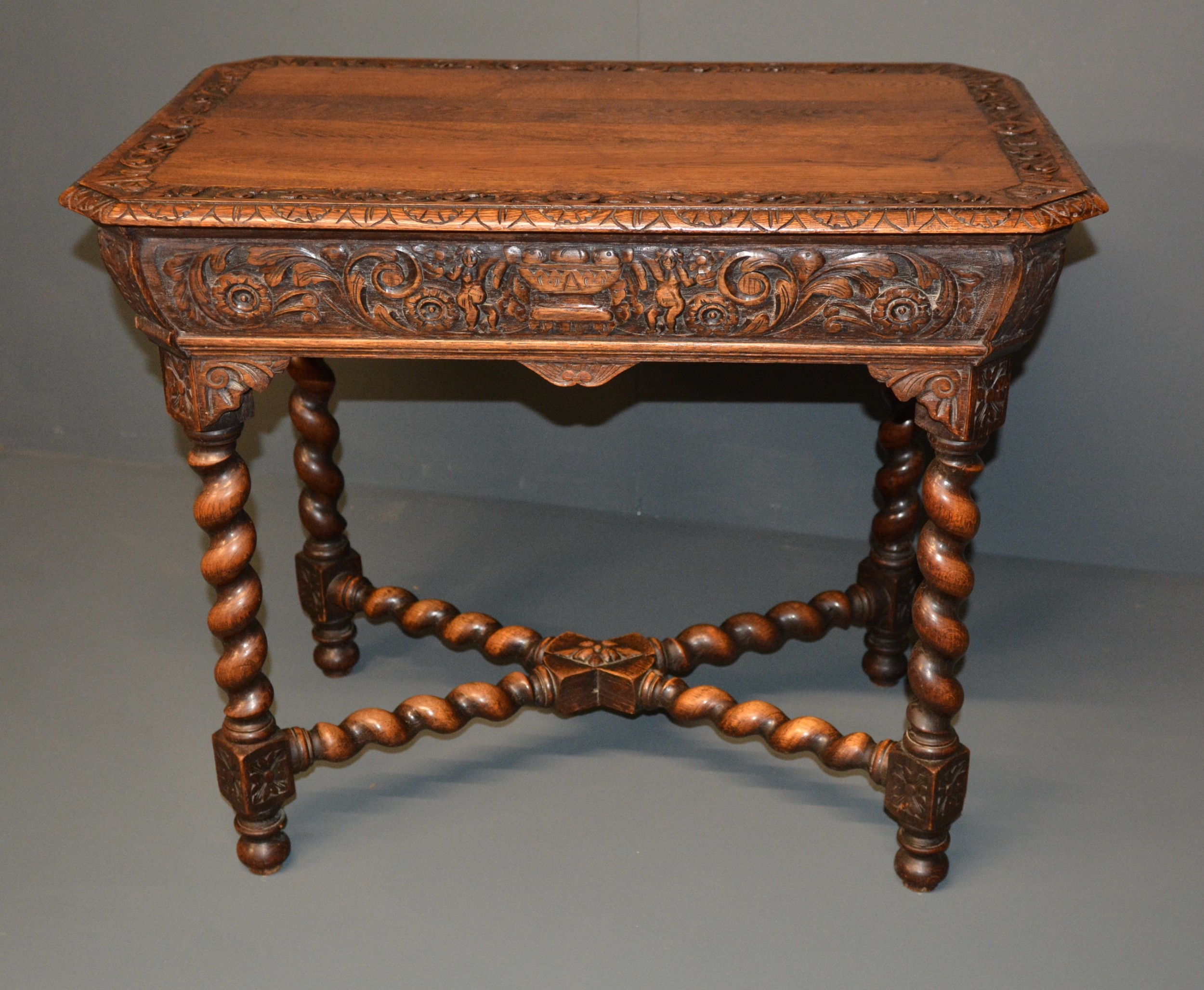 carved oak centre table