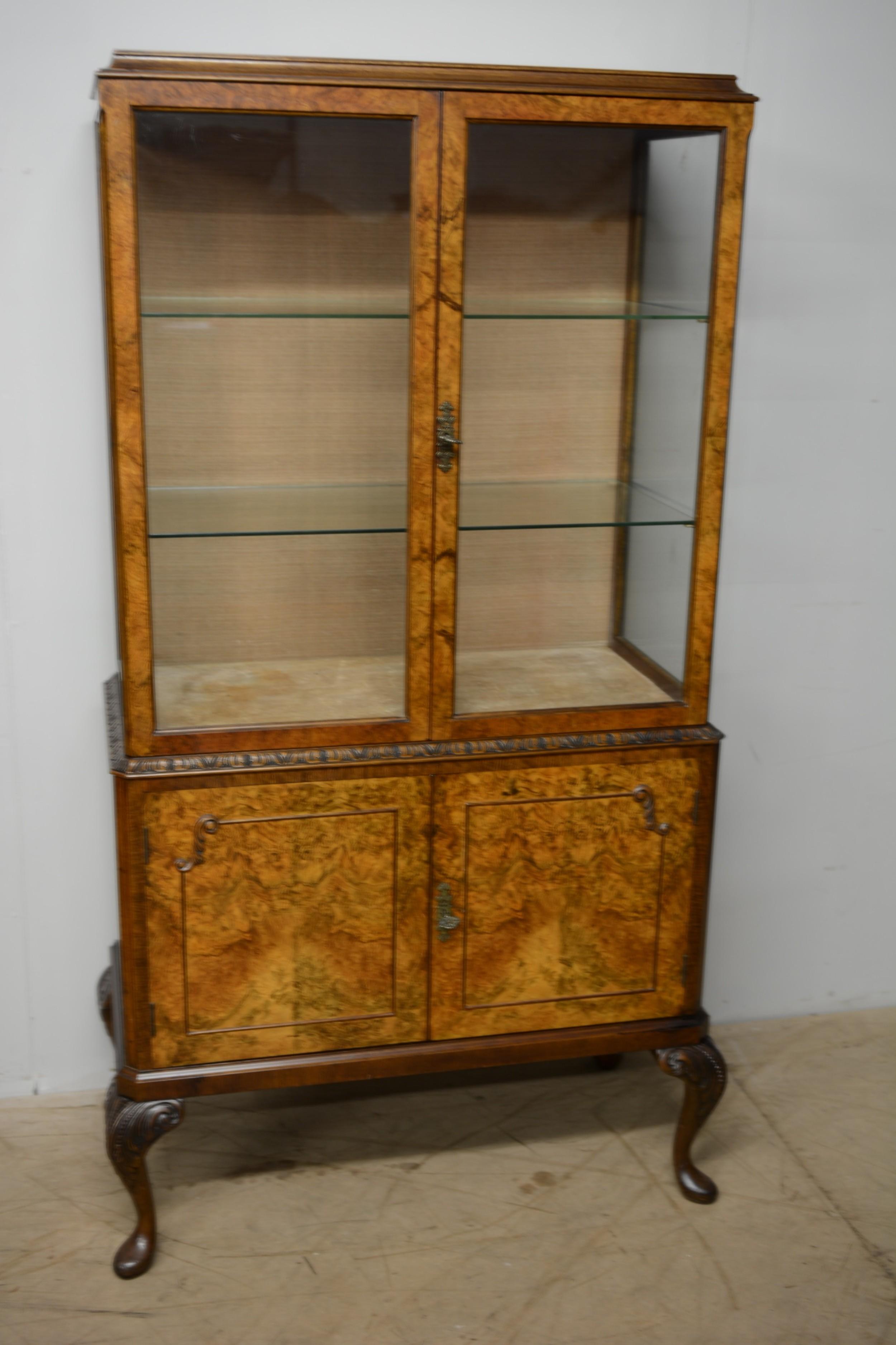 burr walnut cabinet