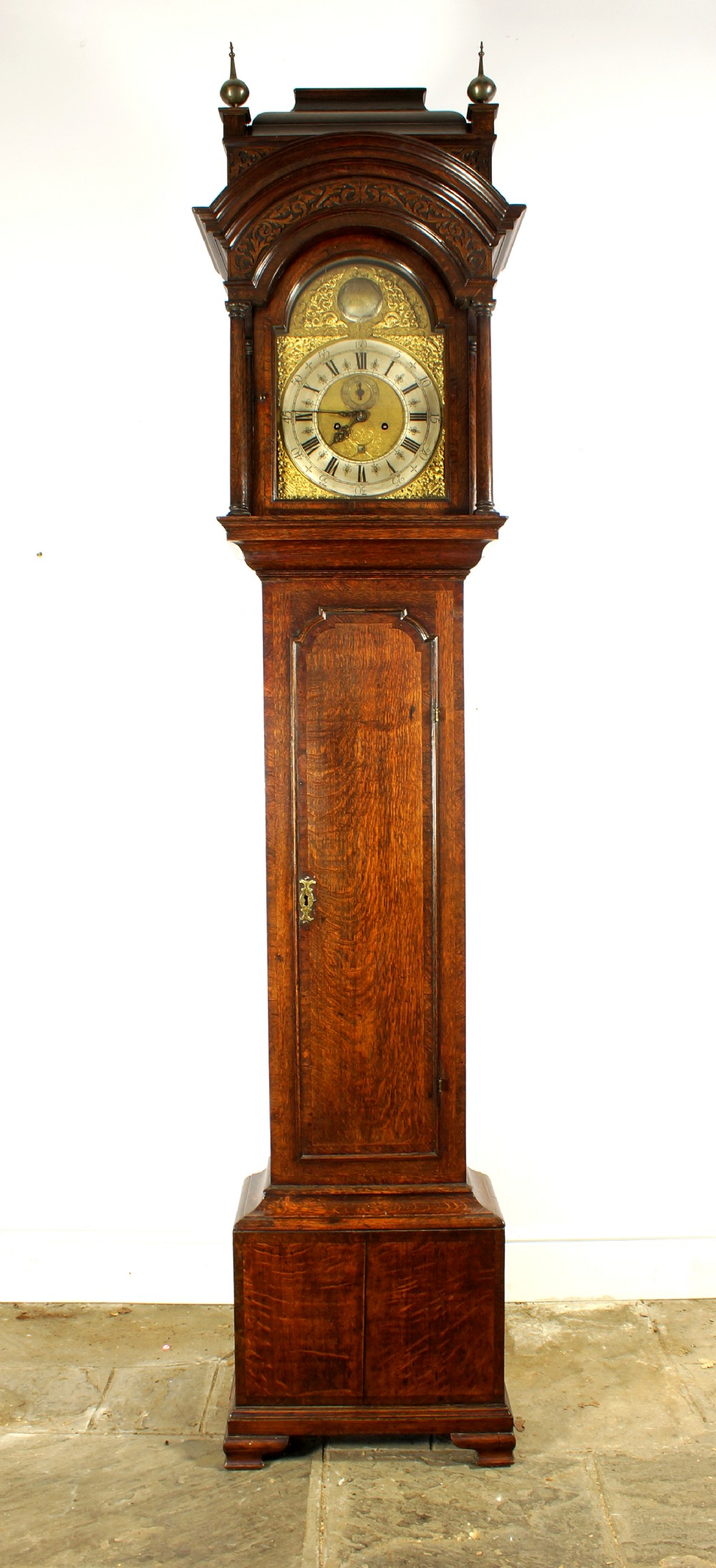18th century georgian oak longcase clock