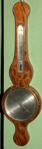 a rare mah round top barometer molton fecit c1815