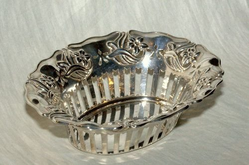 an edwardian oval art nouveau pierced side basket 1904 - photo angle #2