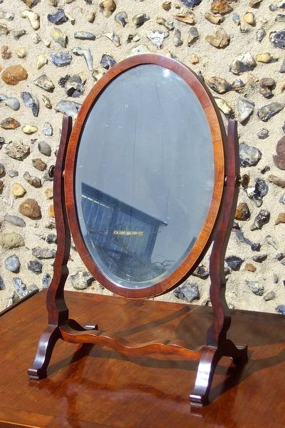 best sneakers 02ba0 24f1a Antique Mahogany Oval Dressing Table Mirror | 74498 ...