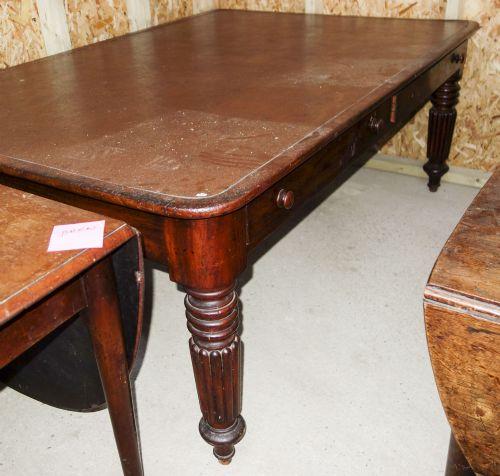 mahogany library table c1830