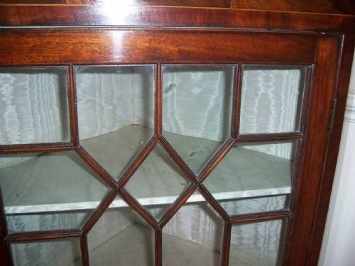 georgian mahogany corner cupboard circa 1785 - photo angle #5