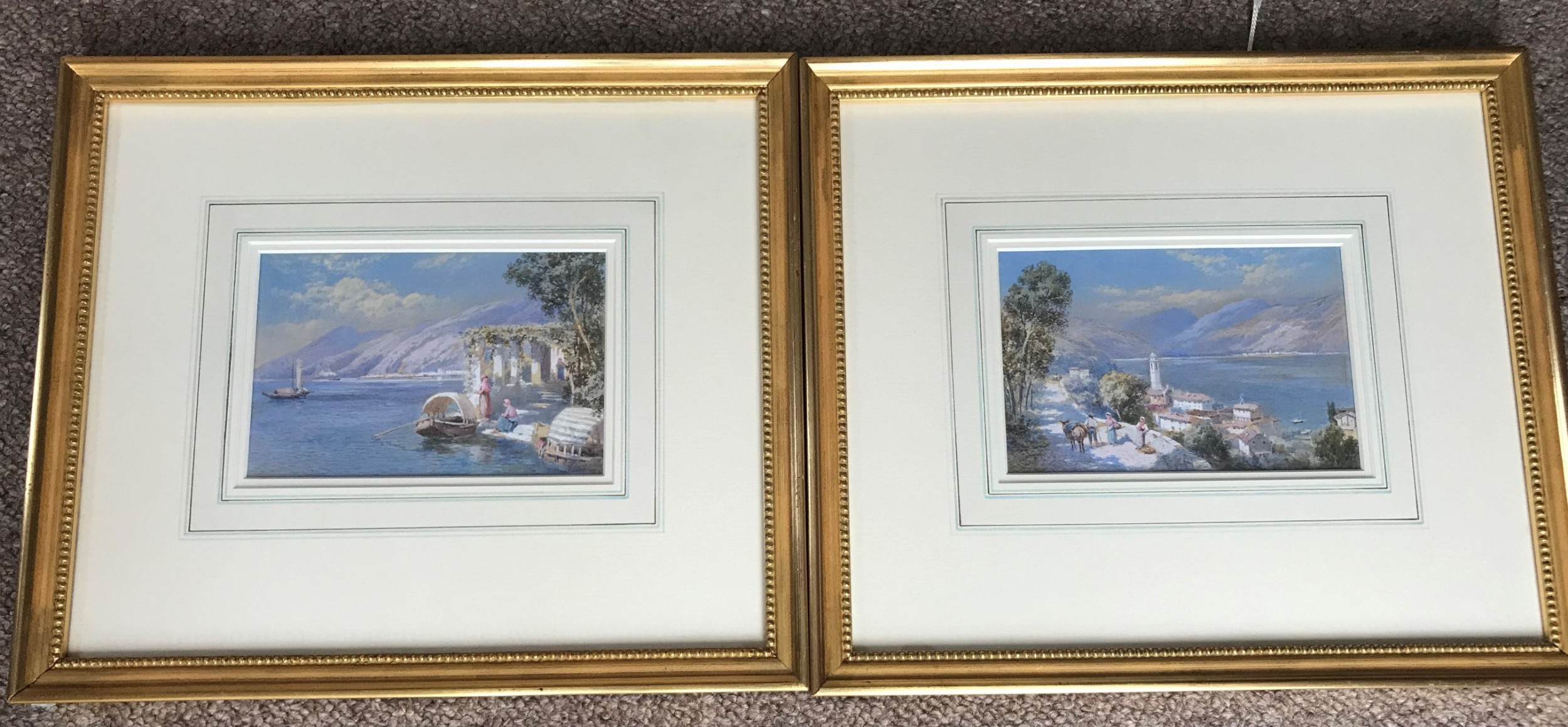 pair watercolours by charles rowbotham