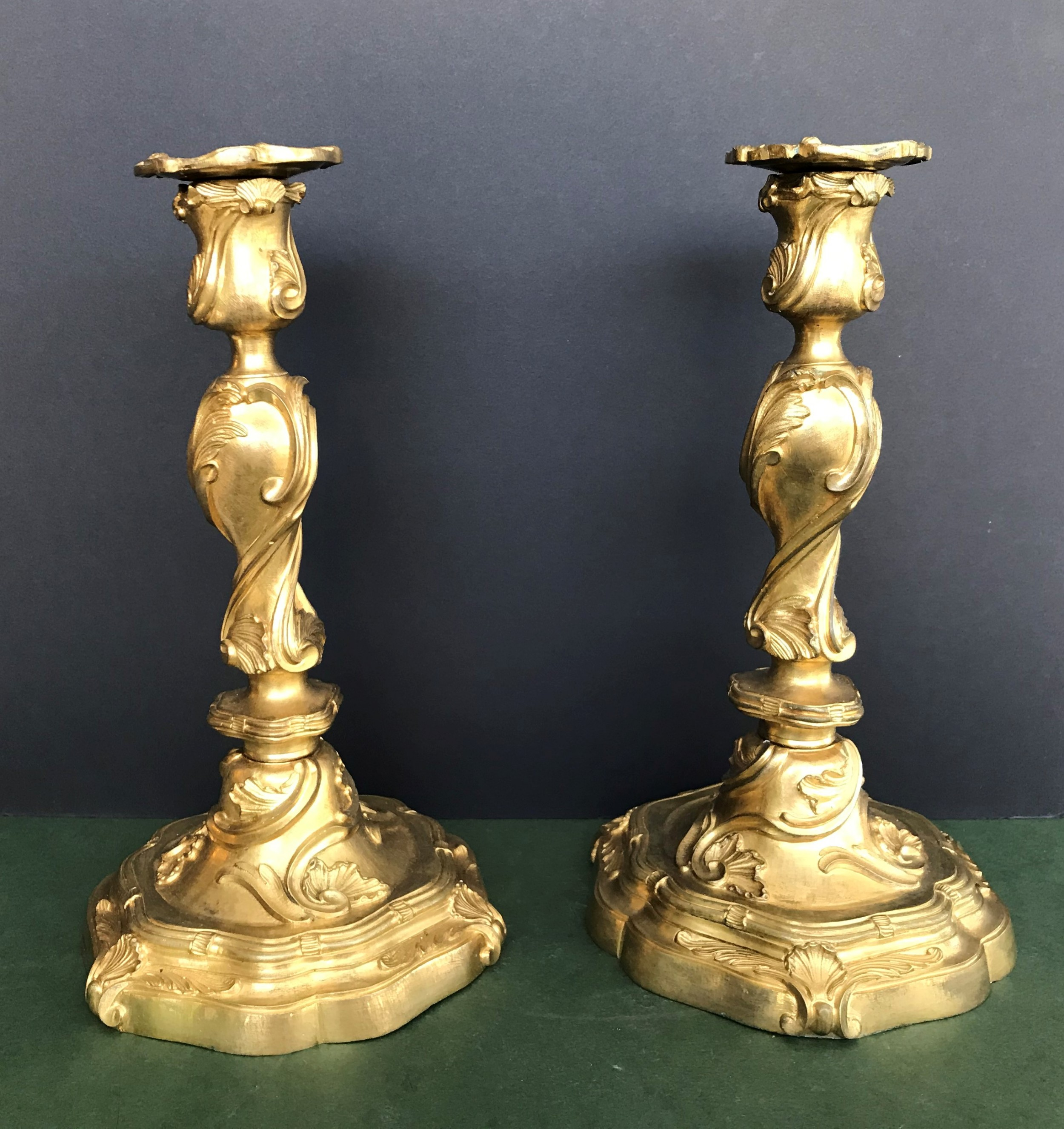 a good pair of late 19th century french ormolu candlesticks in the louis xvi manner