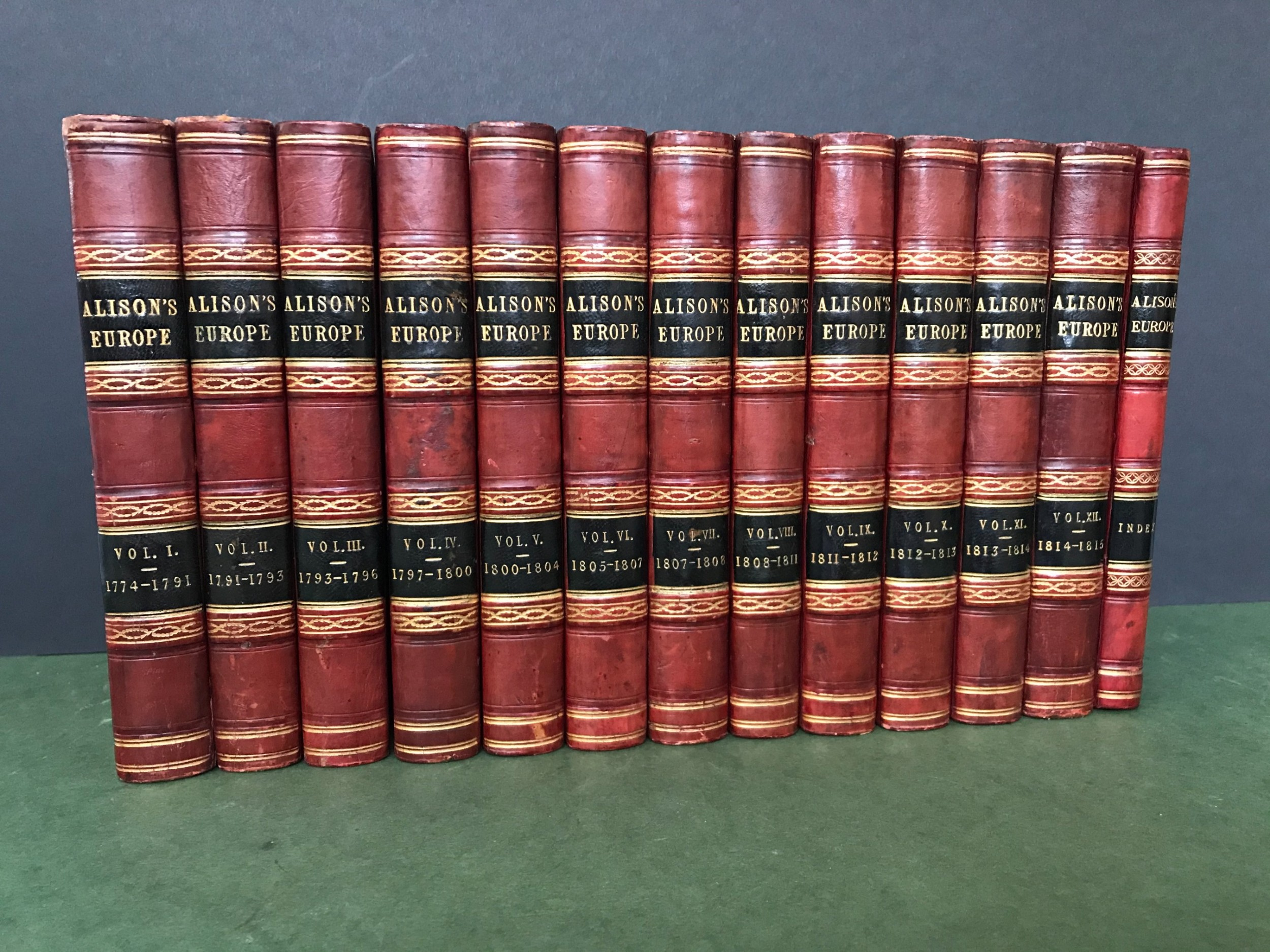 an attractive and complete set of books comprising alison's europe