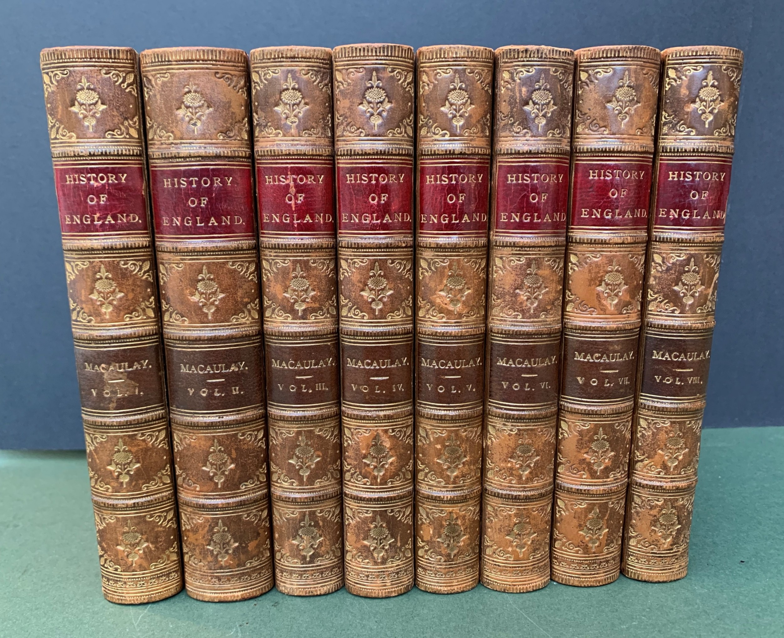 macaulay's history of england dated 1885 complete in 8 books