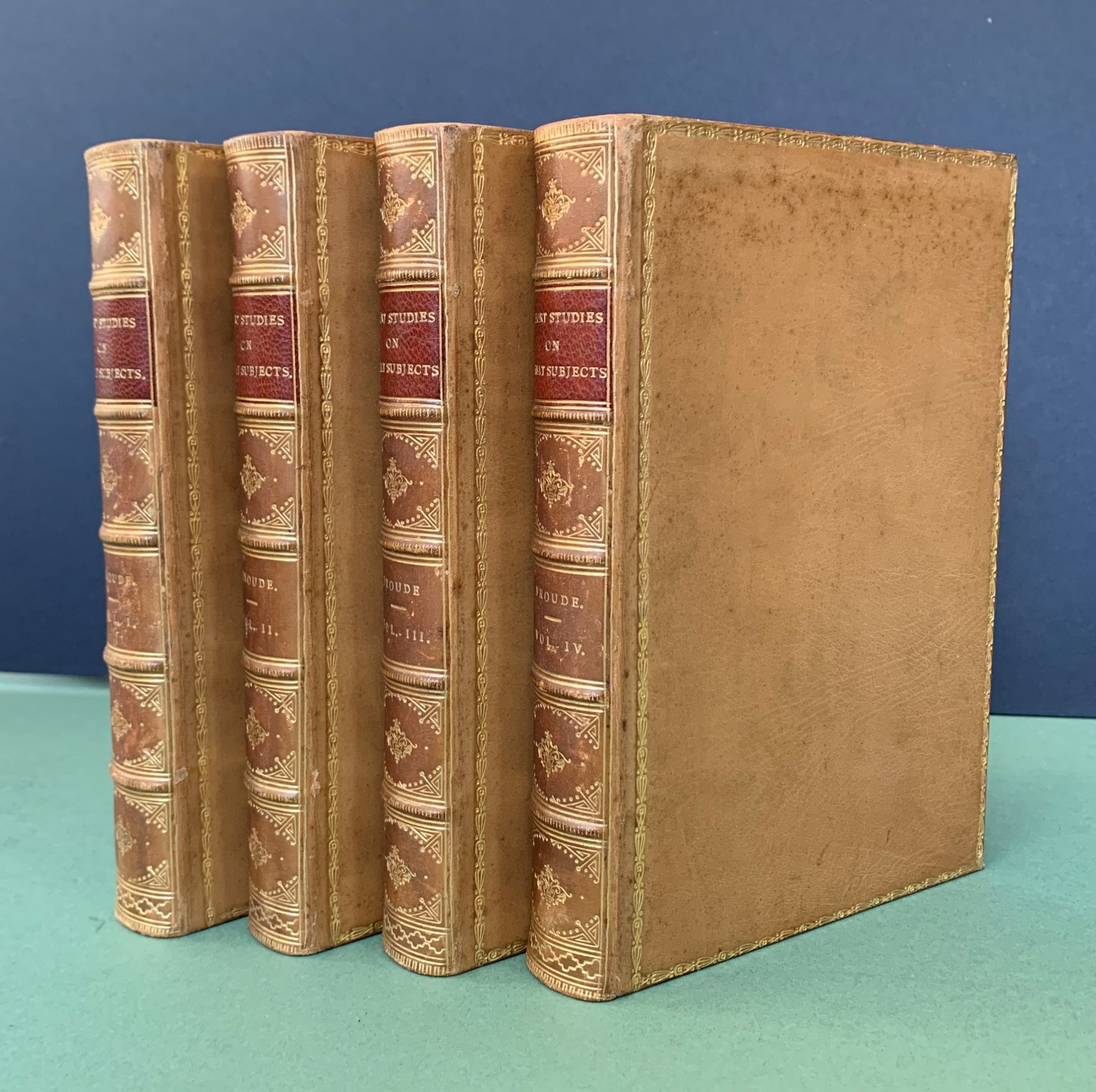 short studies on great subjects by froude complete in 4 books dated 18945