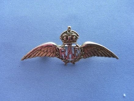9ct Gold Raf Wings Sweetheart Brooch | 94482