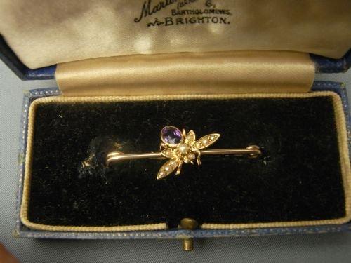 edwardian fly brooch
