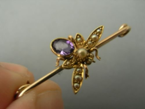edwardian fly brooch - photo angle #3