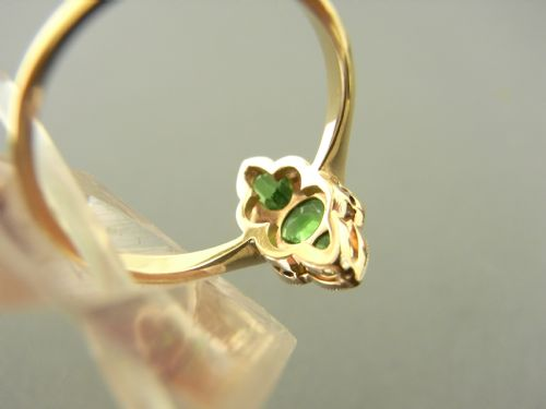 green garnet and diamond ring - photo angle #5
