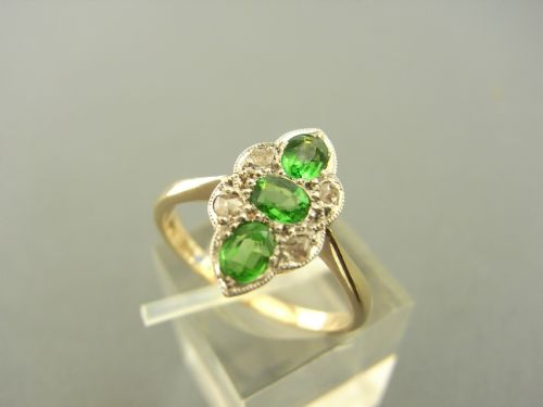 green garnet and diamond ring - photo angle #2